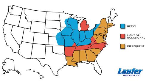 Laufer Trucking Map